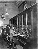 GPO telephone exchange, London, c1905