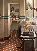 The tiled kitchen, 1954