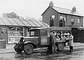 Mobile confectionery shop, a 1932 Bedford 30cwt WS lorry
