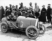 Raymond Mays in a Bugatti, Porthcawl Sands, Wales