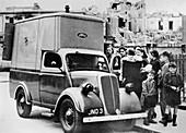 Ford emergency food van, Bethnal Green, London
