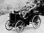Evelyn Ellis driving an 1895 Panhard
