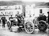 Vincenzo Lancia, Targa Florio race, Sicily, 1907