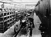 Assembly line of the Morris Bullnose, Oxfordshire, 1925
