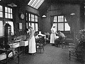 First aid room, Wolseley car factory, Birmingham, 1920s