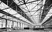 Ford plant during construction, Dagenham, Essex, 1930