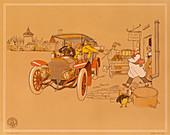 Poster advertising Berliet cars, 1906