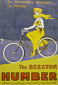 Poster advertising Humber bicycles