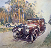 Poster advertising Bentley cars, 1927