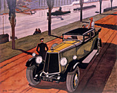 Poster advertising Armstrong Siddeley cars, 1930