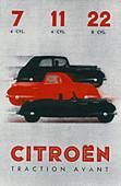 Poster advertising Citroen cars, 1934