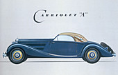 Poster advertising Mercedes-Benz cars, 1939