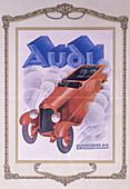 Poster advertising Audi cars, 1922