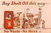 Poster advertising Shell oil