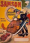 Poster advertising Samson tyres, 1905