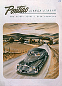 Poster advertising a Pontiac Silver Streak, 1947