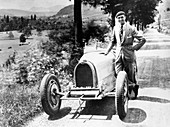 Louis Chiron with his Bugatti Type 51, France, 1931