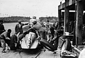 Auto Union in the pits during a Grand Prix, 1938
