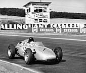 Dan Gurney driving a Porsche, French Grand Prix, 1961