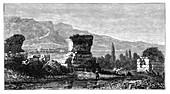 The ruins of Sardis, Lydia, Turkey, c1890