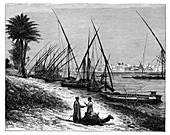 Boulak on the Nile River, Cairo, Egypt, c1890
