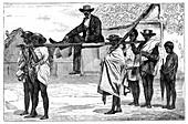 Travelling in Madagascar, c1890