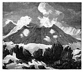 The crater of the volcano Hekla, Iceland, c1890
