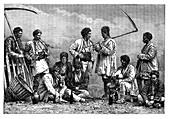 Bulgarian peasants, c1890