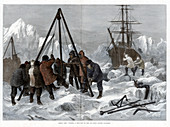 Cutting a Way Out of the Ice from Winter Quarters, 1875