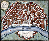A plan of the city of Cologne