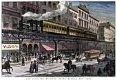 The Elevated Railway, Third Avenue, New York', 1879