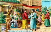A bazaar in China, c1900