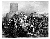 Paris besieged by the Normans, 885 AD