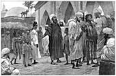 The Slave Market in Morocco, 1888