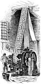 Cylinder printing machine, 1886