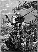 Richard I, Coeur de Lion landing at Jaffa, September 1191