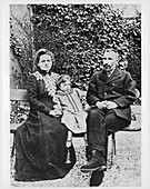 Marie and Pierre Curie, physicists, 1904