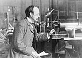 Sir Joseph John Thomson, physicist and inventor, 1900