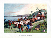 The Arrival at Lake Ngami', 19th century