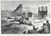 Tay Bridge disaster, Scotland, 28 December 1879