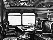 Compartment on the Orient Express reserved for women, c1895