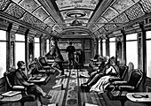 Saloon car on the Orient Express, c1895