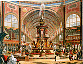Interior of Crystal Palace, International Exhibition, 1862