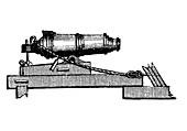 Carronade naval ordnance, 1850