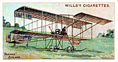 Henri Farman in the Farman biplane, c1909