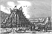 Ice Mountain', artificial sledge run, Russia, 1833