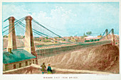 Niagara Cast Iron Bridge', New York, USA, c1855-c1860