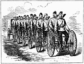 Military multicycle by Singer & Co, 1887