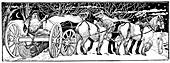 Bringing home the Yule Log', 1883