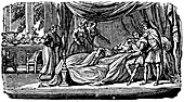 Alexander the Great (356-323 BC) on his deathbed, 1830